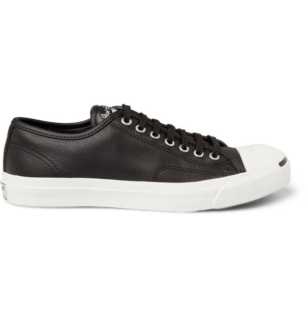 Converse Jack Purcell Leather Sneakers In Black Men - Lyst
