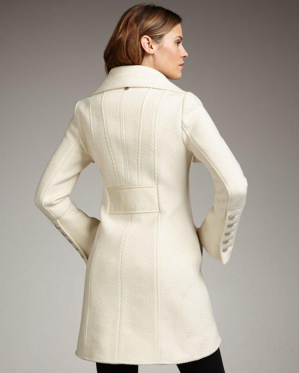 Mackage Diana Wool Coat In White - Lyst