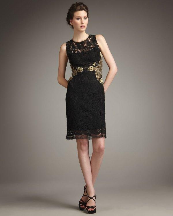 Lyst - Elie Tahari Estelle Lace Dress In Black