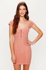 Free People Stretch Eyelet Bodycon