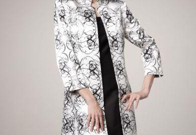 Black Dress With White Jacket