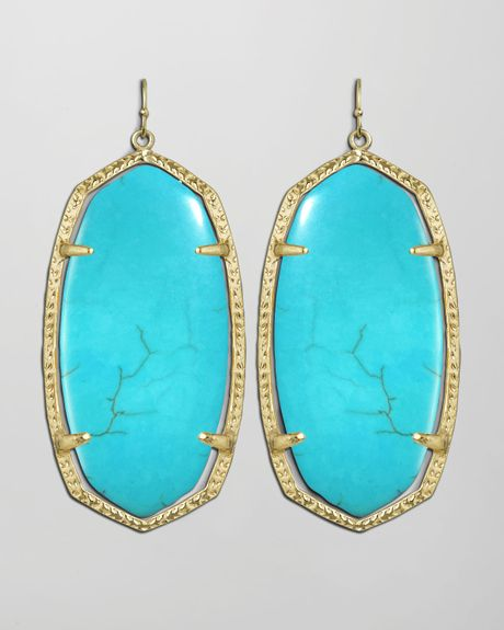 Kendra Scott Danielle Earrings in Blue (TURQUOISE)