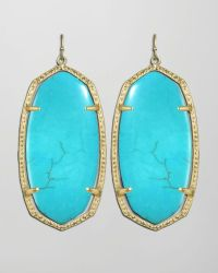 Kendra Scott Danielle Earrings in Blue (TURQUOISE) | Lyst