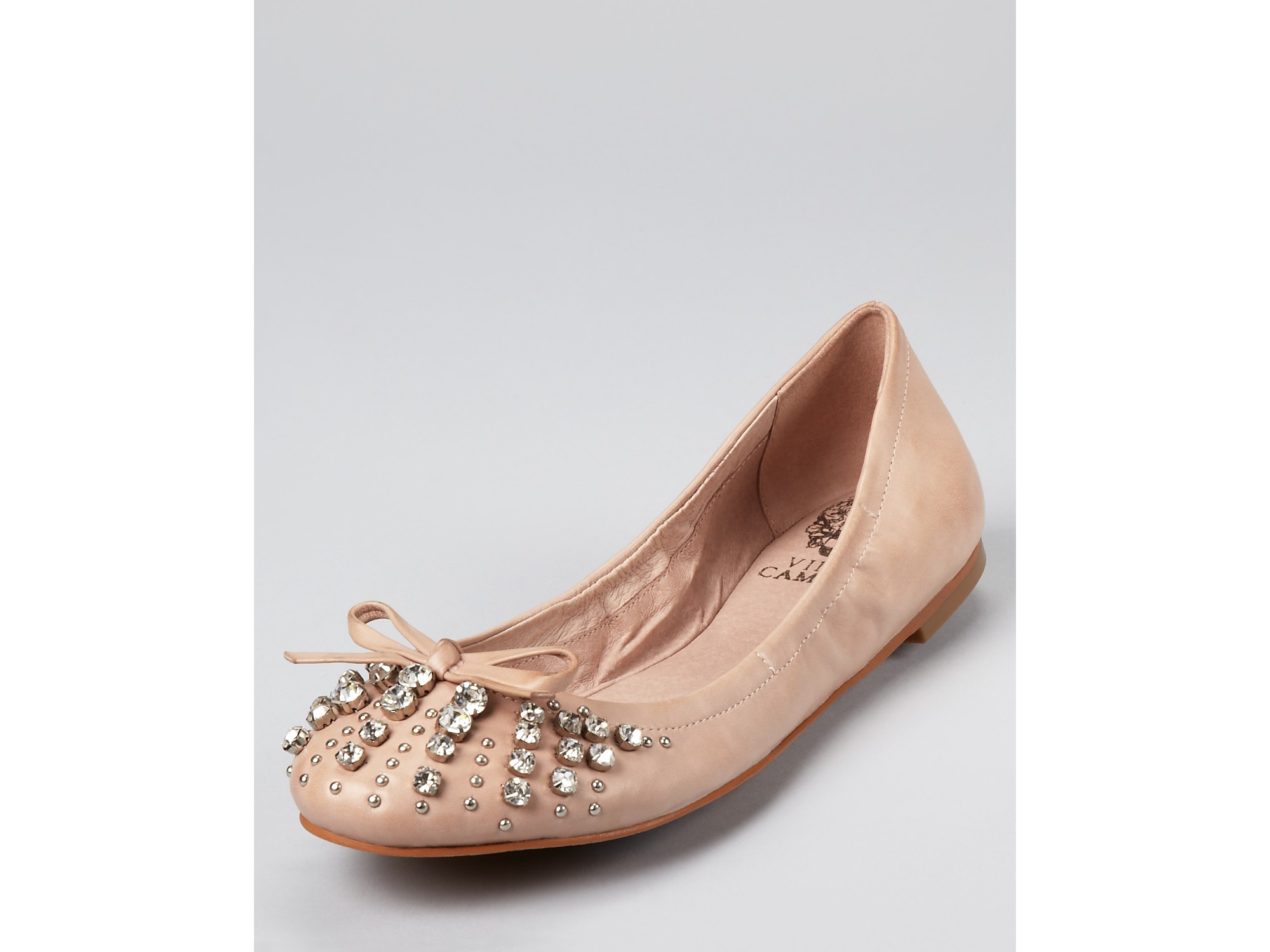 Lyst Vince Camuto Friso Rhinestone Ballet Flats In Pink
