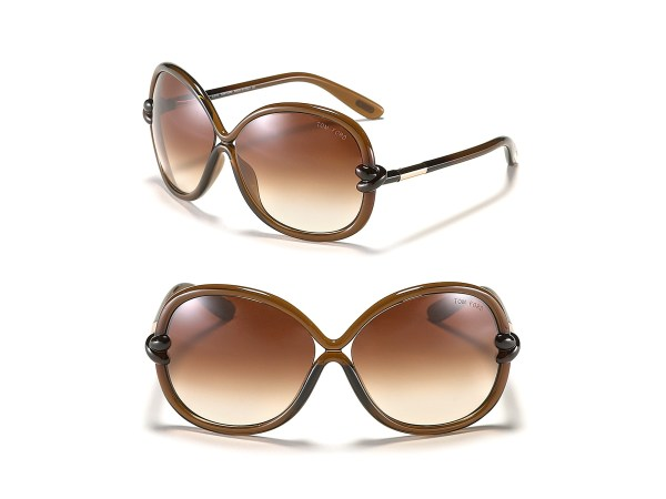 Tom Ford Sonja Oversized Sunglasses In Brown Shiny
