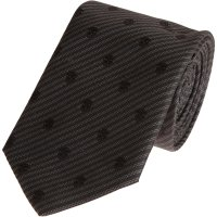 Alexander mcqueen Embroidered Skull Tie in Black for Men ...
