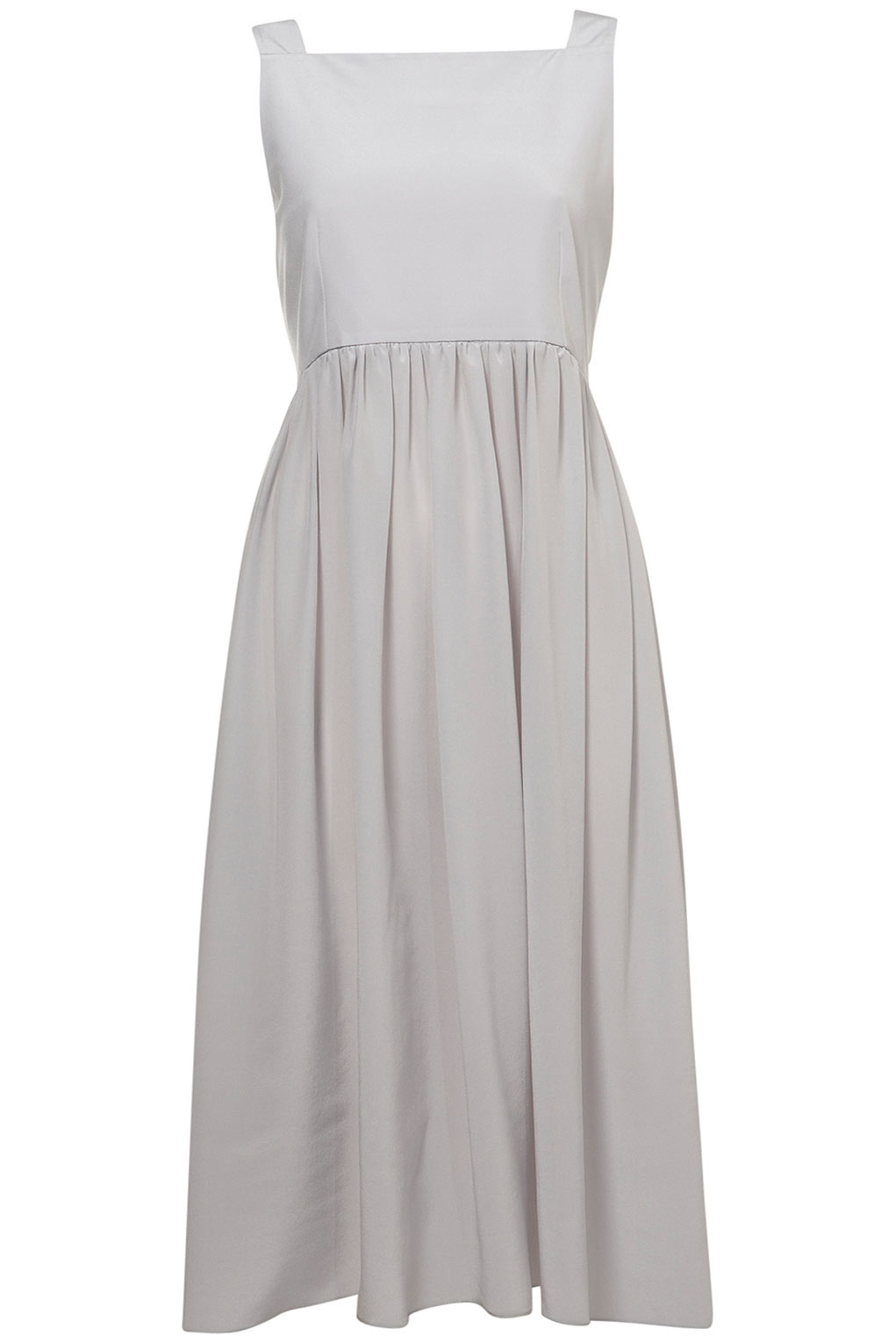 Topshop Amish Pini Dress By Boutique In Light Grey Gray