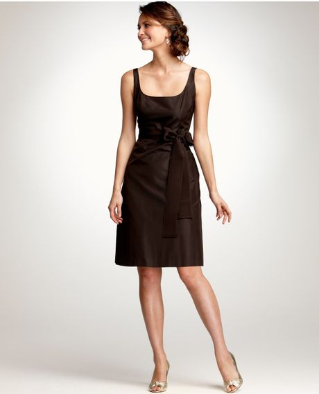 Ann Taylor Silk Taffeta Scoop Neck Bridesmaid Dress in