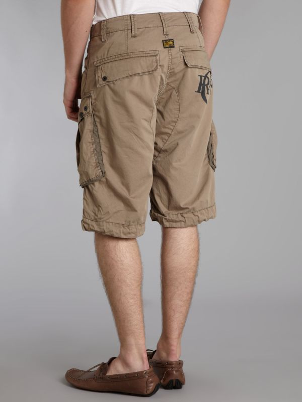 Lyst - -star Raw Loose Halo Rovic Art Shorts In Natural