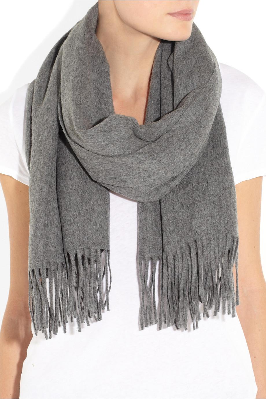 Acne Studios Canada Wool Scarf in Gray - Lyst