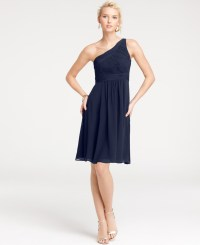 Ann Taylor Silk Georgette One Shoulder Bridesmaid Dress in ...