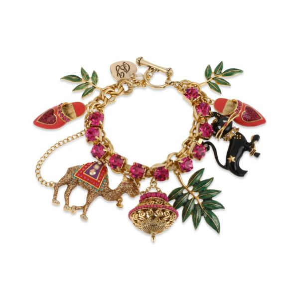Lyst - Betsey Johnson Gold Tone Camel And Cat Multicharm