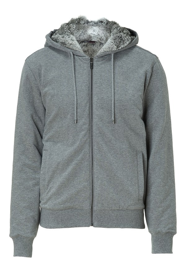 Lyst - Michael Kors Ash Fur Lined Zip Hoodie In Gray Men
