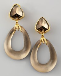 Alexis Bittar Allegory Lucite Link Clip Earrings in Gold ...