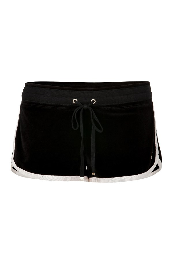 Juicy Couture Black Velour Dolphin Shorts In - Lyst
