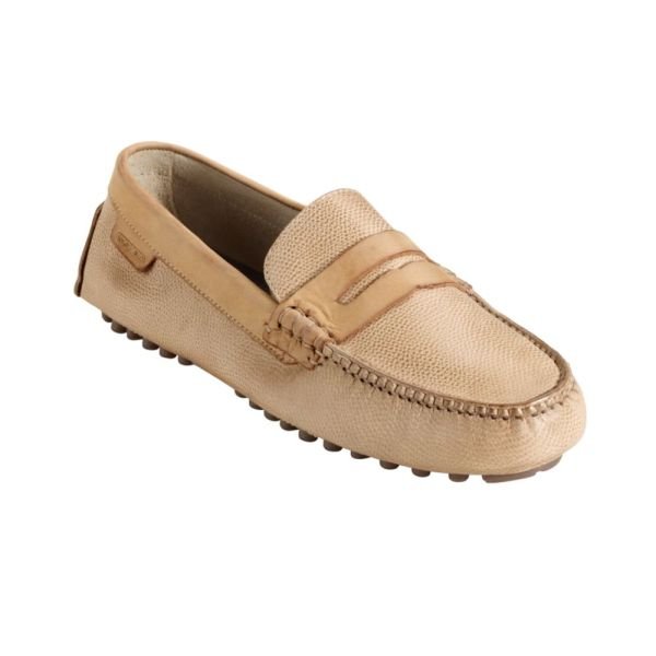 Cole Haan Air Grant Penny Driving Moccasins In Beige Men Grain Lyst