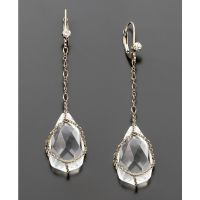Teardrop Crystal Earrings Clear Gl Drops Crystal Teardrop ...