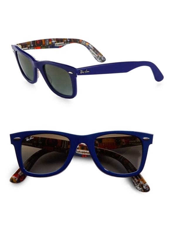 Ray-ban Classic Wayfarer Guitar Print Sunglasses In Blue