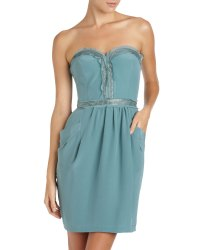 Lyst - Rebecca Taylor Strapless Party Dress in Blue
