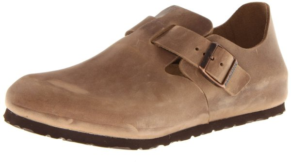 Birkenstock Womens London Leather Clog In Beige Tobacco Lyst