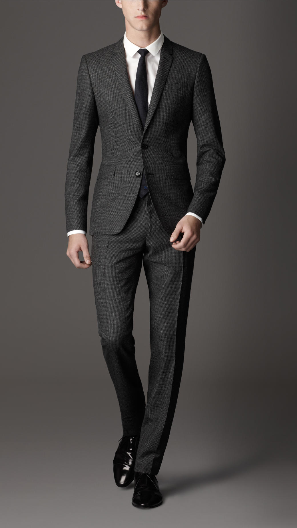 Burberry Slim Fit Wool Suit In Charcoal Gray For Men Lyst