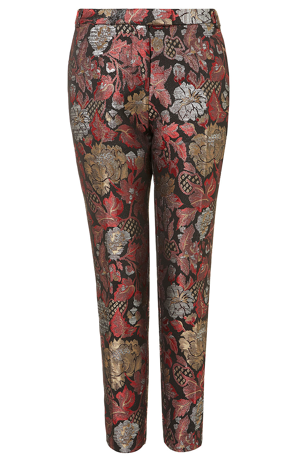 Lyst Topshop Chinoiserie Jacquard Cigarette Trousers In