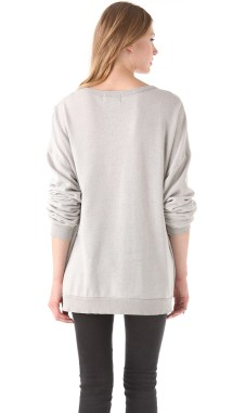 Wildfox Black Stallion Barefoot Sweater In Gray Lyst