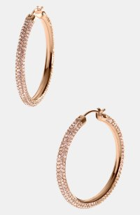 Michael Michael Kors Camille Pav Hoop Earrings in Gold