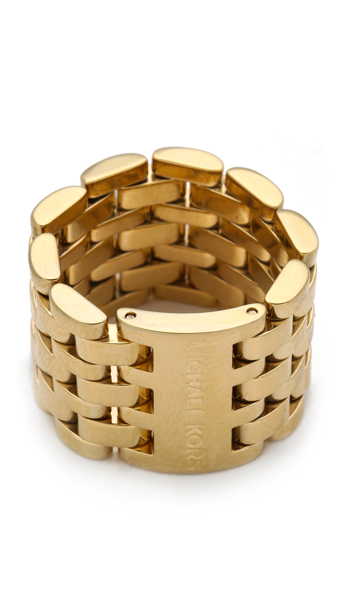 Michael Kors Watch Link Ring in Gold