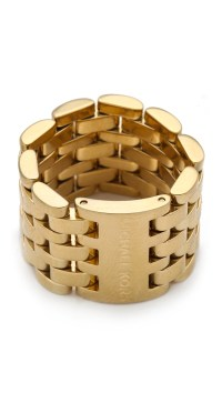 Michael Kors Watch Link Ring in Gold | Lyst