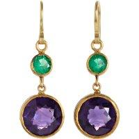 Judy geib Colombian Emerald Amethyst Earrings in Purple ...
