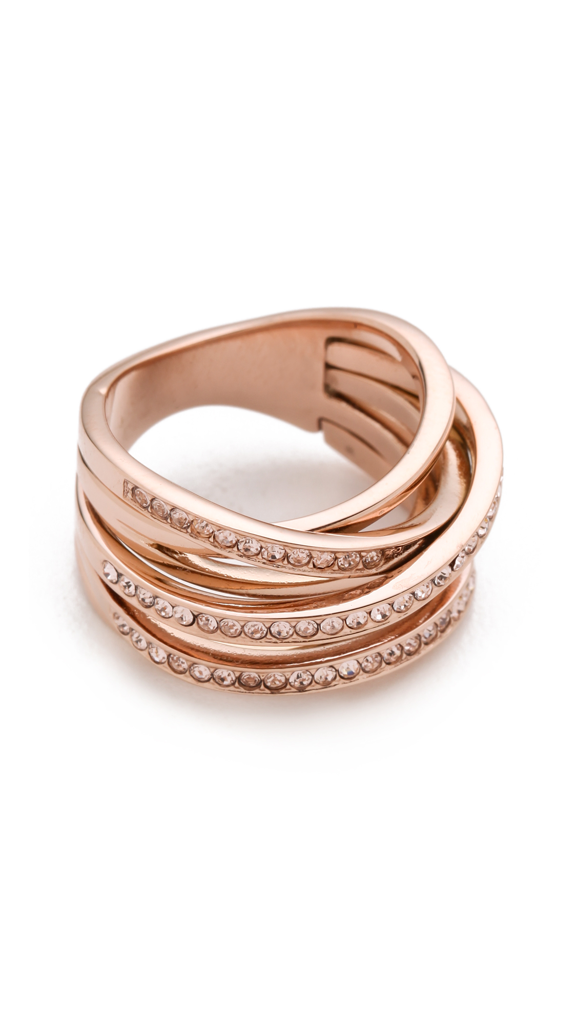 Michael Kors Pave Stack Ring In Metallic Lyst
