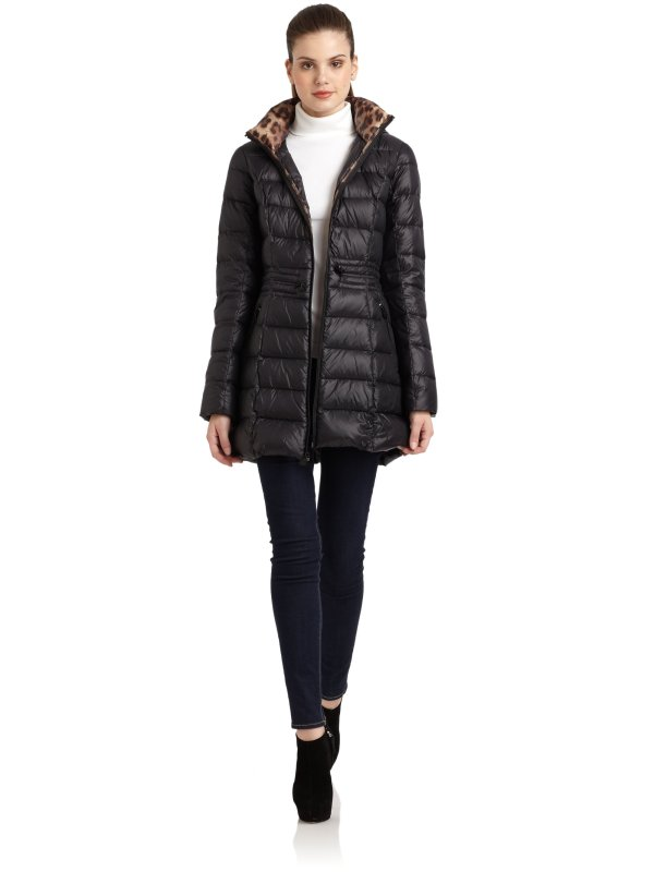 Laundry Shelli Segal Packable Coat In Black - Lyst