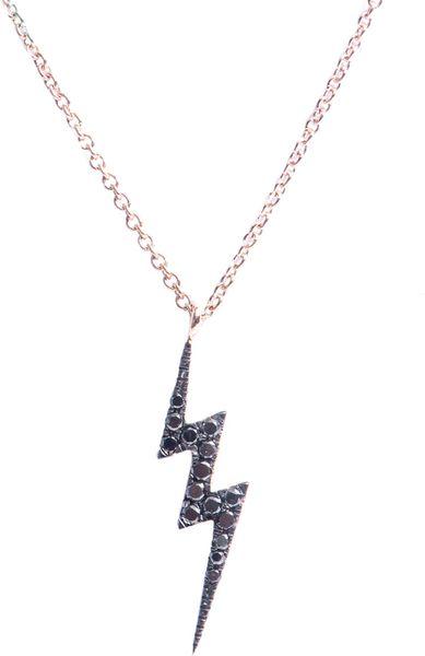 Diane Kordas Diamond and Gold Lightning Bolt Necklace in