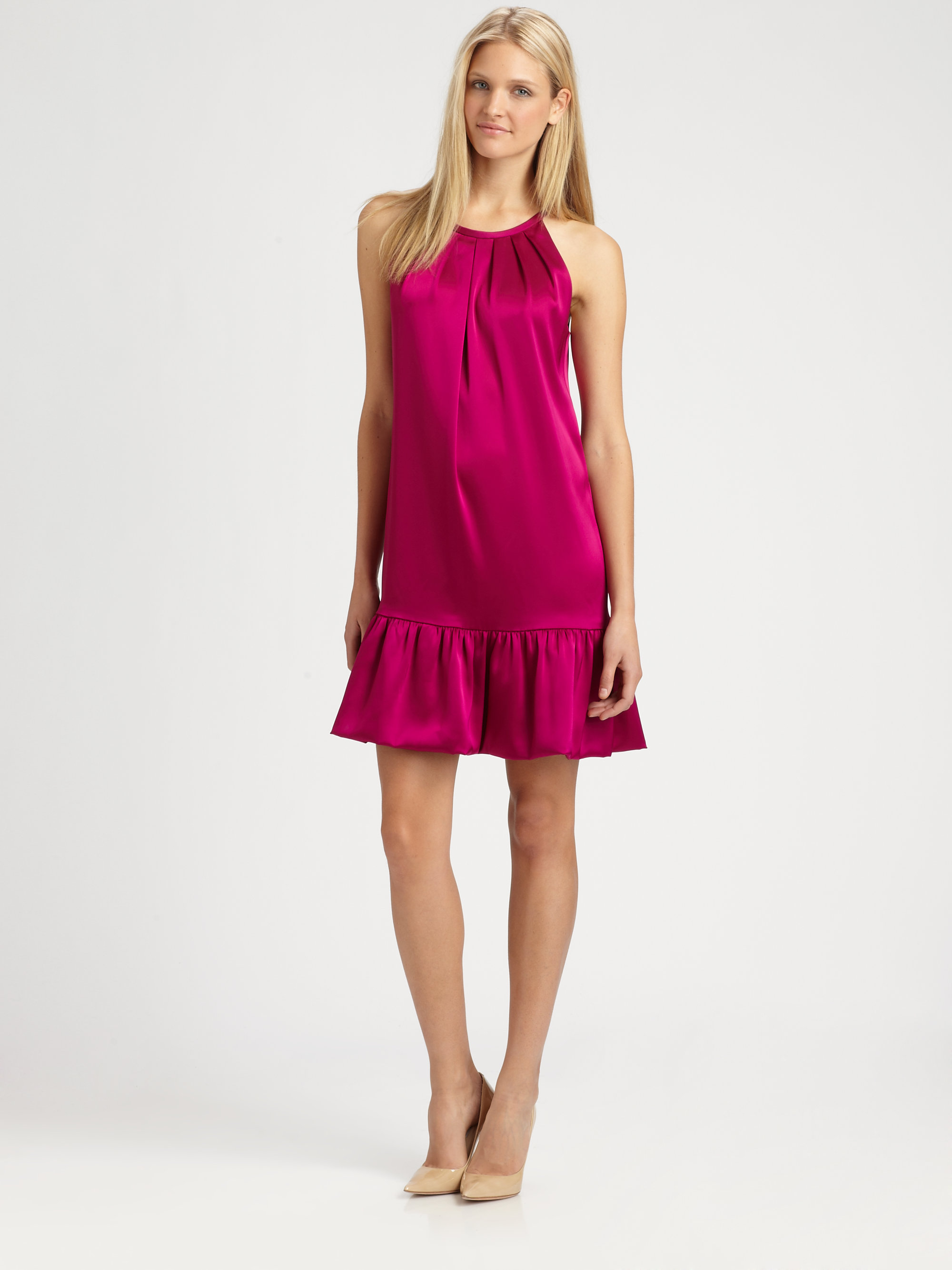 Lyst  Dkny Halter Dress in Pink