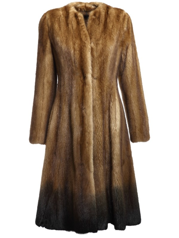 Fendi Belted Mink Fur Coat In Brown Lyst