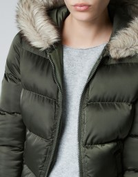 Puffer Jacket With Fur Hood - Jacket To