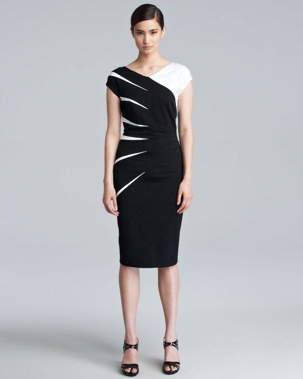 Escada Daidas Capsleeve Scuba Dress In Black Lyst