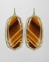 Kendra scott Danielle Earrings in Gold (brown) | Lyst