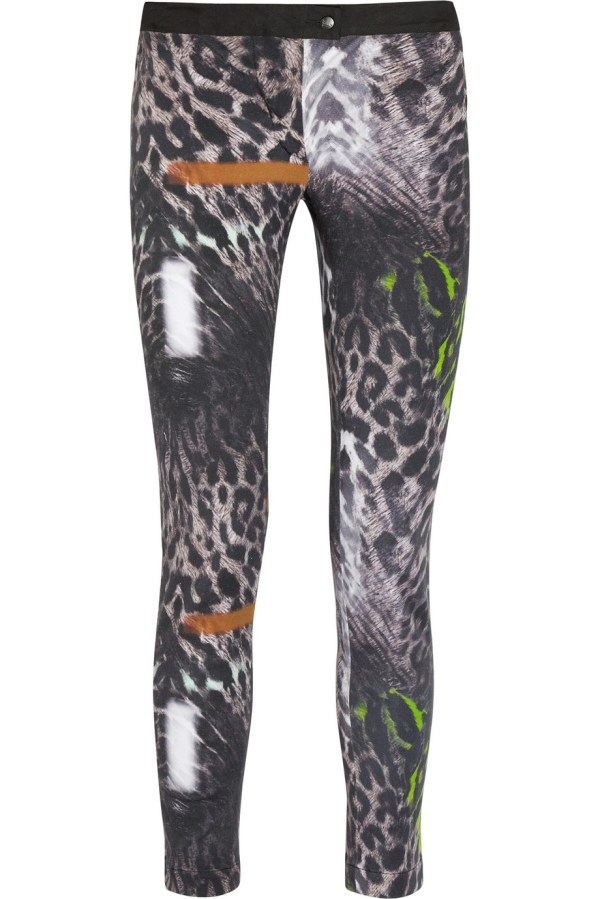 Leopard Print Stretch Pants