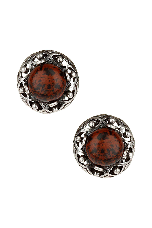 Topshop Marble Stud Earrings in Purple (burgundy)