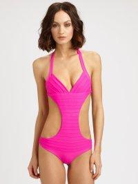 Lyst - Mikoh Swimwear Onepiece Laguna Halter Swimsuit in Pink