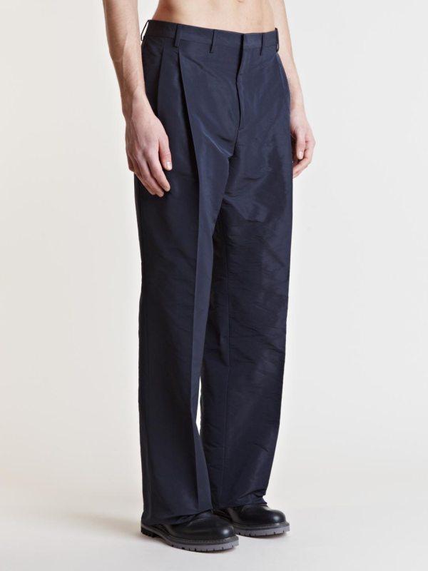 Lanvin Wide Leg Trousers In Blue Men Lyst