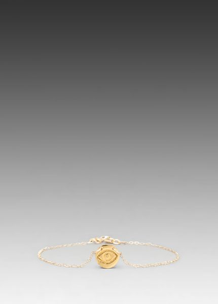 Gorjana All Seeing Eye Disc Bracelet in Gold - Lyst