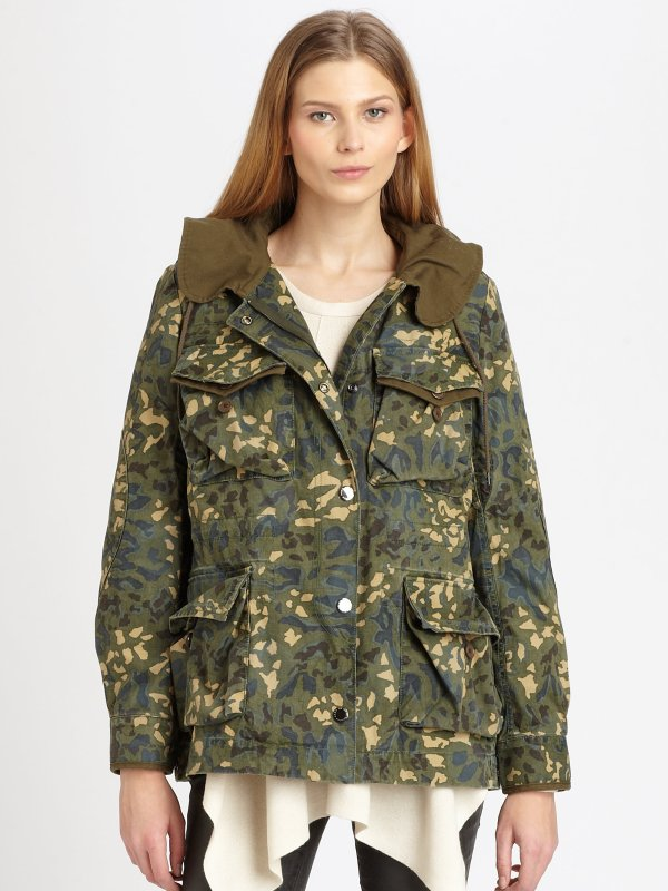 Marc Jacobs Forks Camo Parka In Green Forest Lyst