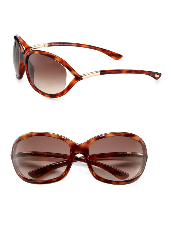 Tom Ford Jennifer 61mm Oval Sunglasses Havana In Brown Lyst