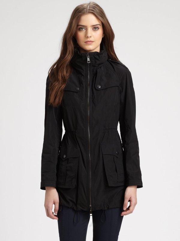 Burberry Brit Badgeford Anorak Jacket In Black Lyst