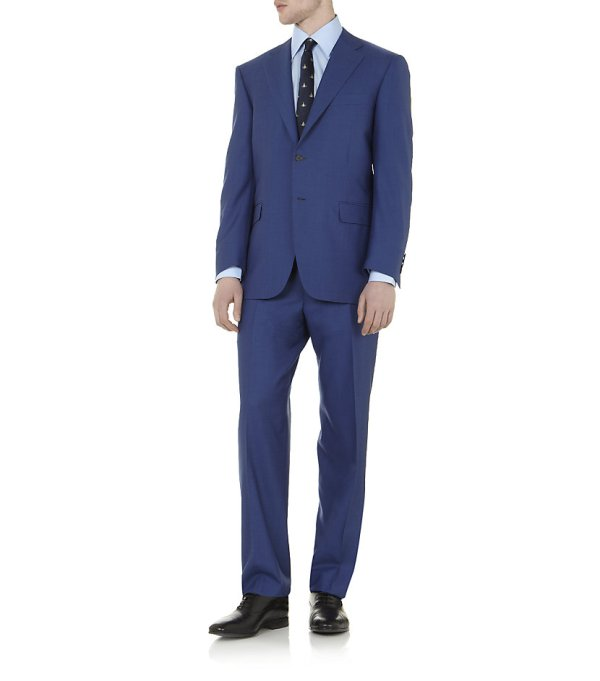 Canali Tropical Suit In Blue Men Lyst