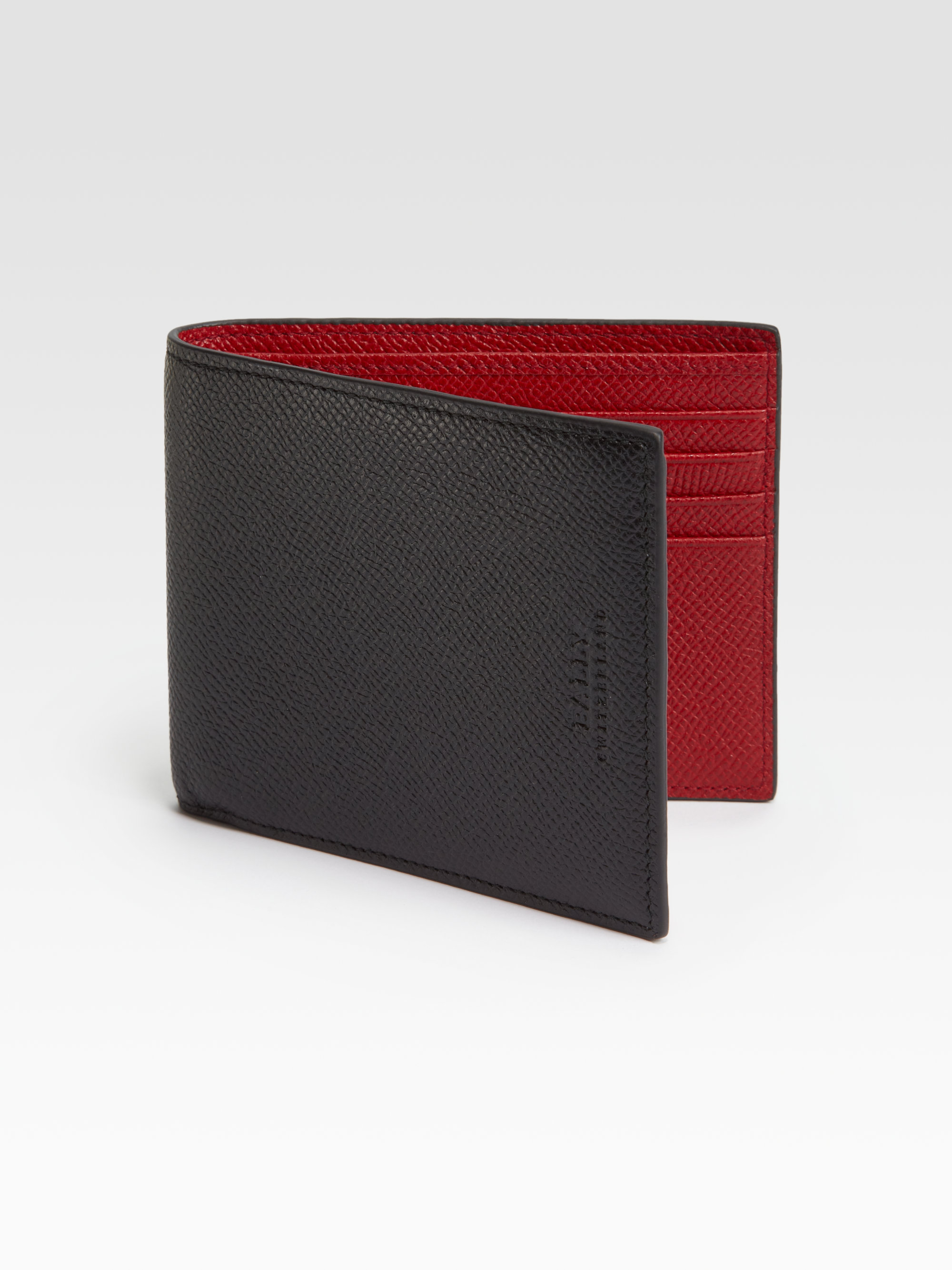 Bally Leather Wallet In Black For Men Lyst