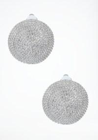 Bebe Oversized Textured Stud Earrings in Metallic | Lyst